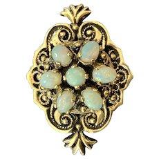 Victorian Revival 14k Gold Brooch Pendant