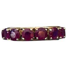 Beautiful Ruby Eternity 14K Gold Ring