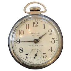 Mid Century Westclox Scotty Pocket Watch