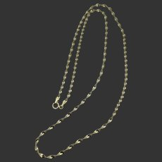 """14k Gold Italy 24"""" Twisted Link Chain"""