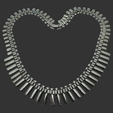 Sterling Silver Articulated Cleopatra Collar Necklace