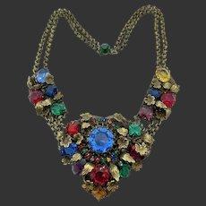 Rare Early Hobe Multi Colored Festoon Necklace