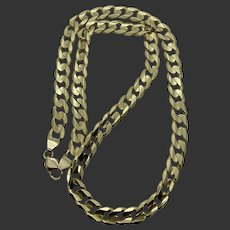 """Solid 14k Gold 24"""" Curb Link Chain Necklace"""