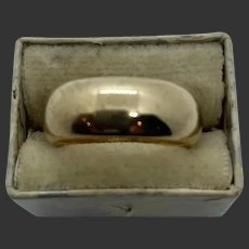 Thick 18k Gold Victorian Wedding Band Ring