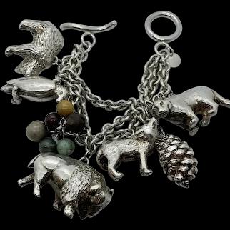 Susan Cummings Sterling Endangered Species Charm Bracelet