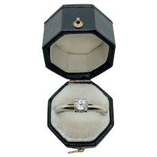14k Gold .65 carat Diamond Solitaire Ring