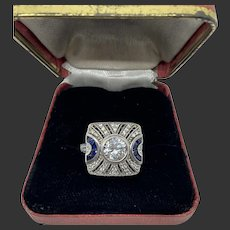 Beautiful Sterling Art Deco Style Ring
