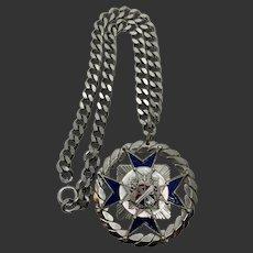 Unusual Iron Cross Pendant Necklace
