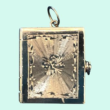 1960's 14K Yellow Gold Picture Book Locket Charm