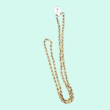 """20"""" 14K Yellow Gold Rope Chain"""