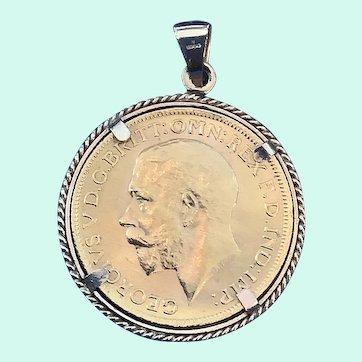 British Gold 1927 Coin Pendant King Georg V