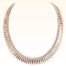 Exquisite 18K Yellow Gold Cleopatra Collar Necklace