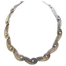 Pre Eagle Mexican Los Castillo 980 Sterling Silver Collar Necklace