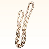 """22"""" 14k Yellow Gold Curb Style Chain Necklace"""