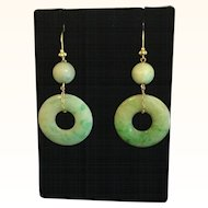 Lovely Jade Jadeite 18k Earrings