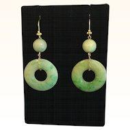 Lovely Jade Jadeite 18k Earrings