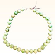 Beautiful Jade Jadeite 10mm 14k Bead Necklace
