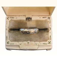 Beautiful Yellow and White Gold 14k Ring Band