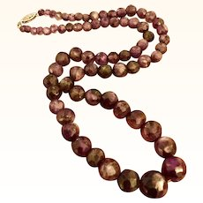 "20"" Strand Natural Amethyst Bead Necklace"