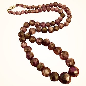 """20"""" Strand Natural Amethyst Bead Necklace"""