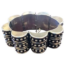 Los Castillo 244 Triple Barrel Sterling Taxco Mexico Bracelet