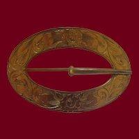 Victorian Gold Filled Sash Brooch