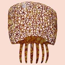 XXL Faux Tortoise Shell Mantilla Peineta Hair Comb