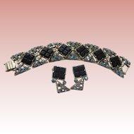 Selro Signed Bracelet & Earrings