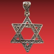 Turkish Sterling Filigree Judaica Pendant