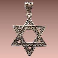 Turkish Sterling Filigree Judaica Pendant