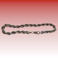 Men's Large Sterling Silver Rope Bracelet