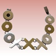 Taxco Sterling Silver Hugs & Kisses Bracelet