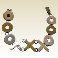 LG Taxco Sterling Hugs & Kisses Bracelet