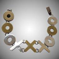 Taxco Sterling Silver Hugs & Kisses Bracelet