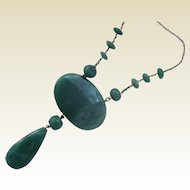 Art Deco Adventurine Necklace