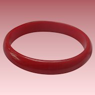 Cherry Red Bakelite Bangle Bracelet