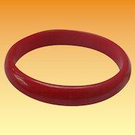 Cherry Red Bakelite Bangle Bracelet