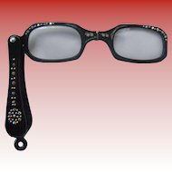 Vintage Bedazzled Lorgnette Glasses