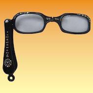 Vintage Bedazzled Lorgnette Glasses