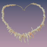 Natural Caribbean Angel Skin Coral Branch Necklace