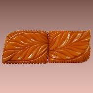 Heavily Carved Bakelite Buckle