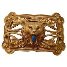 Art Nouveau Bear Sash Pin