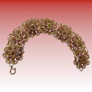 Portugeuse Silver Vermeil Filigree Bracelet