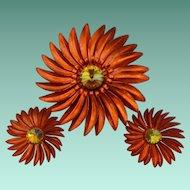Metallic Enameled Flower Demi