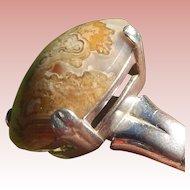Sterling Silver & Jasper Ring