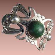 Chunky Mexican Silver Bracelet Pre-Eagle