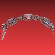 Precious Pink Art Deco Bracelet