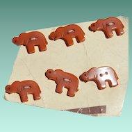 Adorable! Mini Bakelite Elephant Buttons
