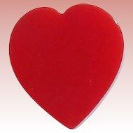 Red Carved Bakelite Heart