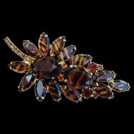 Juliana Tortoise Stone Leaf Brooch Book Piece!